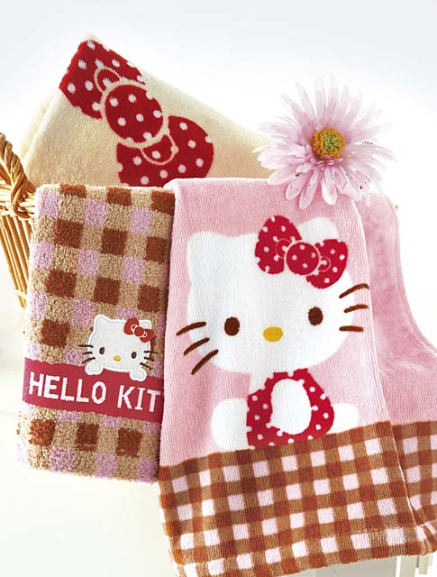 hello kitty towel set