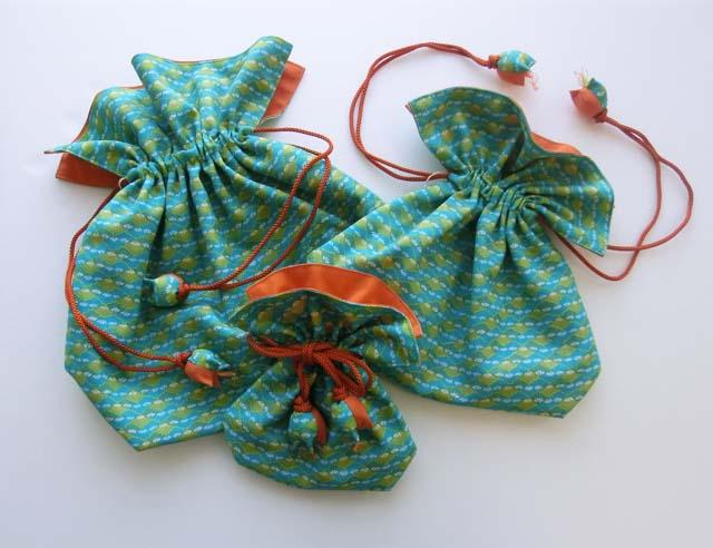japanese kimono fabric kinchaku