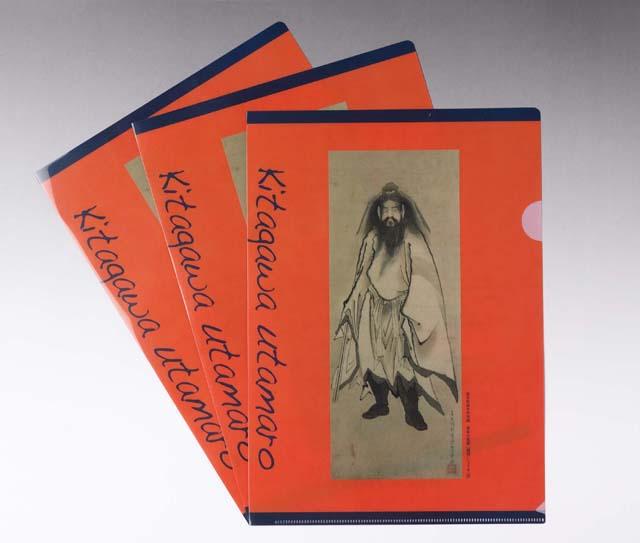 japanese ukiyoe clear folder orange utamaro