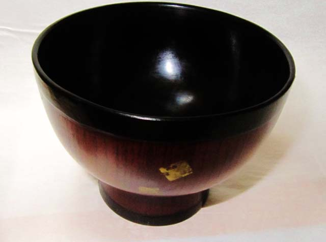 japanese urushi big bowl soup rice