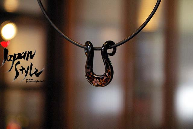 Japanese Iron Lacquer Pendant