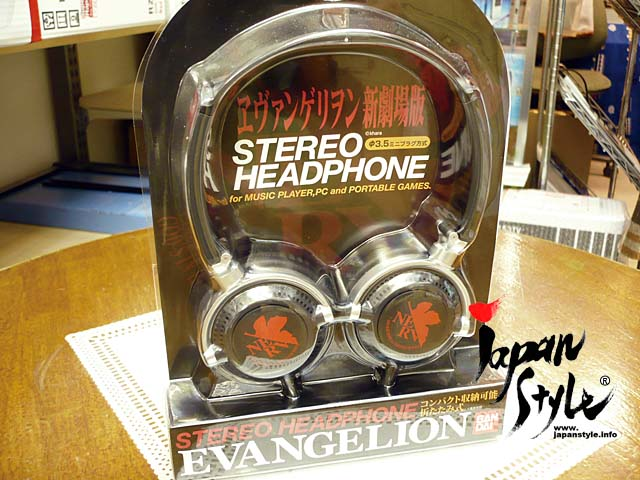 evangelion headphone earbuds nerv black