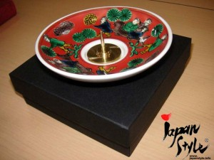 Japan kutani candle stand chinaware