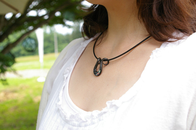 Japanese iron necklace