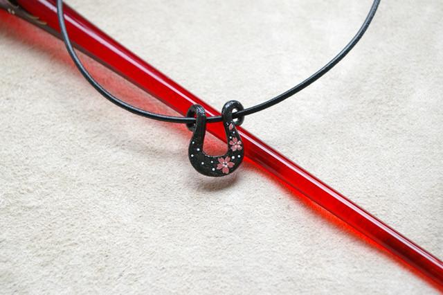 Japanese sakura cherry iron necklace