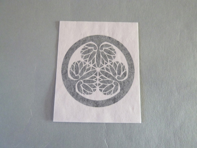 Japanese kamon tattoo sticker tokugawa
