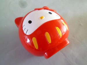 hello kitty bento lunch box daruma red