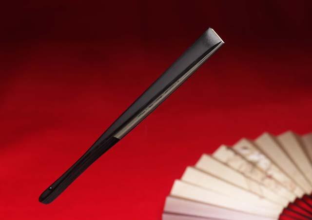 japanese folding fan sensu sumo black