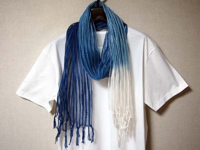 japanese plant dyeing handmade stole