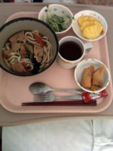 Lunch in hospital