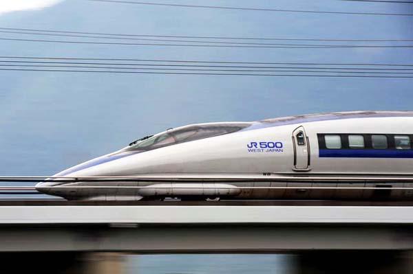 Shinkansen Nozomi 500 series. Copy right CNS