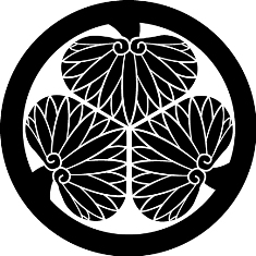 Tokugawa kamon. The hollyhock kamon of the Tokugawa clan.