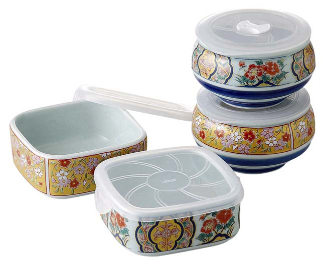 This is a Japanese Arita-yaki (Arita ware) food container set (microwave oven is OK!)  sc 1 st  Japan Style & Japanese ARITA ware Food Container Set microwave | Japan Style