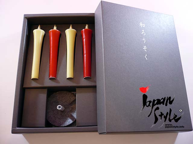 Japanese candle sticks and holder