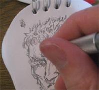 notepad skull