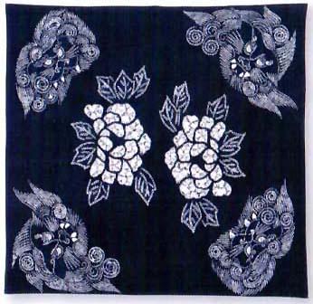 furoshiki indigo dyeing