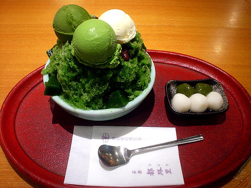 green tea icecream