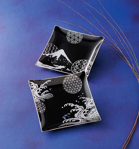 hokusai plate