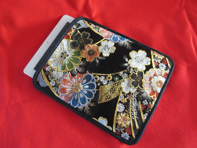 japanese kimono ipad case bag fabric
