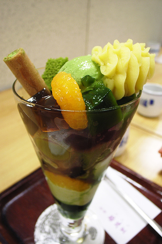 green tea parfait