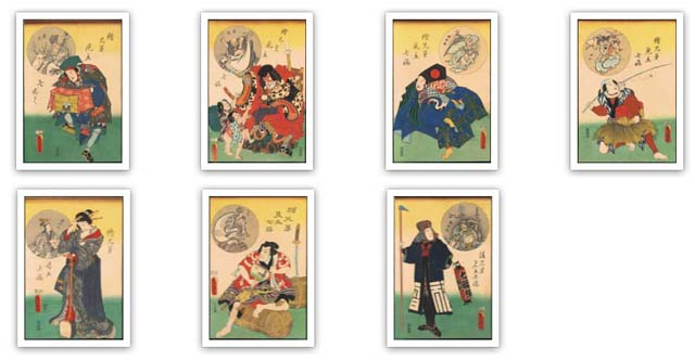 kabuki toyokuni work print set ukiyoe