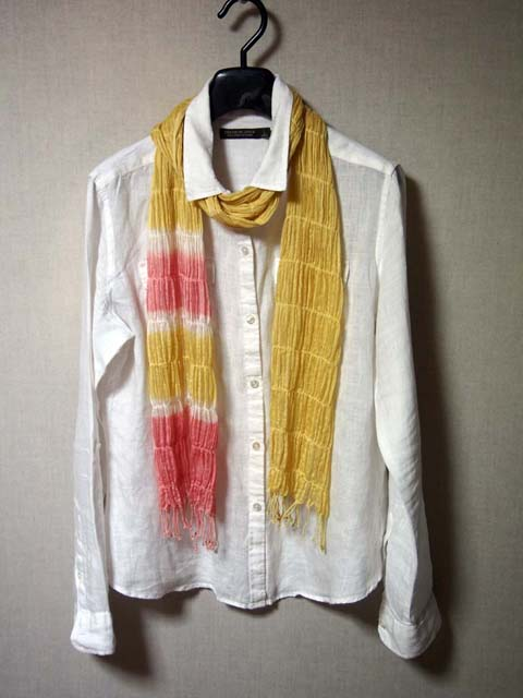 japanese plant dyeing stole