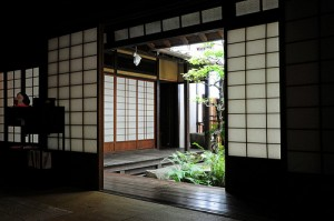 "Inside of a machiya (Japanese town house). ""m-louis"" some rights reserved. flickr"