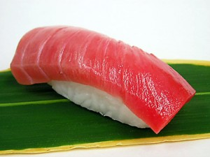 Sushi fridge magnet maguro