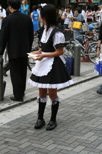 Akihabara maid. Cloganese some rights reserved. flickr
