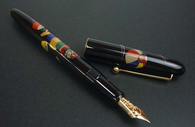 pilot namiki makie fountain pen daruma