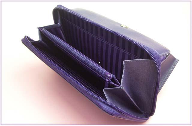 ashford purple purse wallet