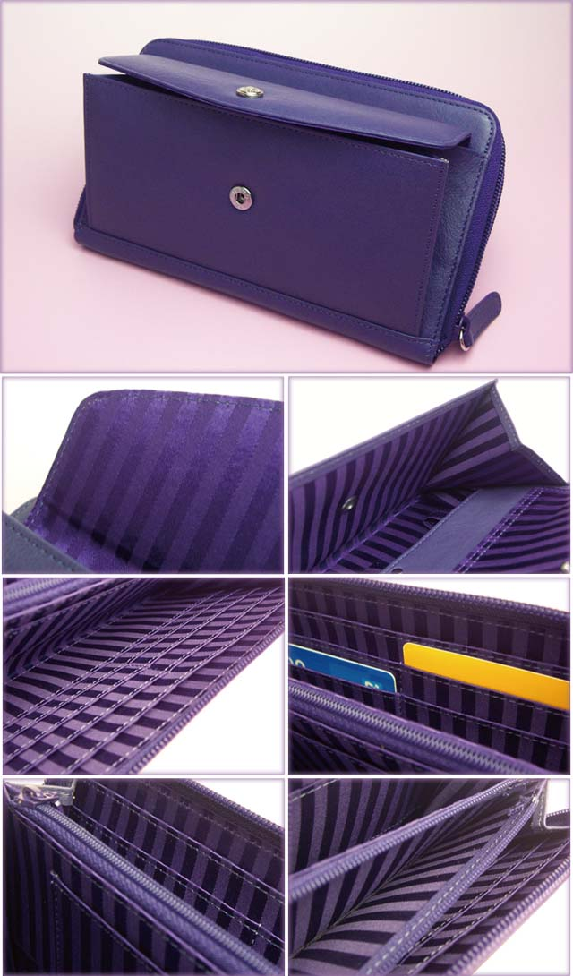 ashford purple purse wallet