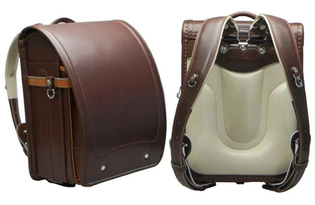 """Japanese School Bag """"Randoseru"""" Brown Backpack"""