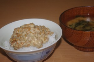 "Natto on rice & Miso Soup. ""101LAB"" some rights reserved. flickr"