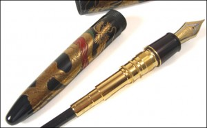japanese makie fountain pen dragon