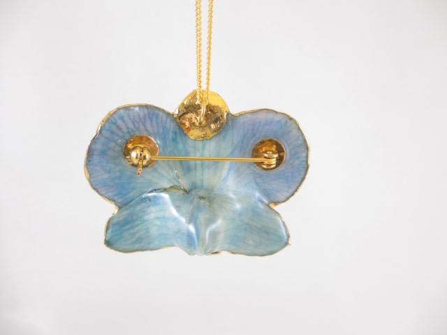 fresh flower pendant orchid blue