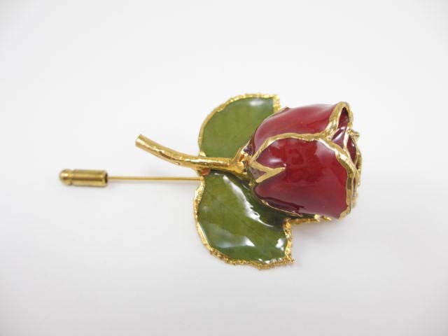 fresh flower pin brooch rose