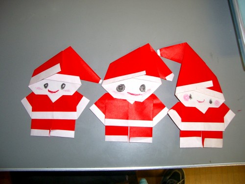 Kawaii Easy Santa Claus Origami Christmas Decoration Japan Style