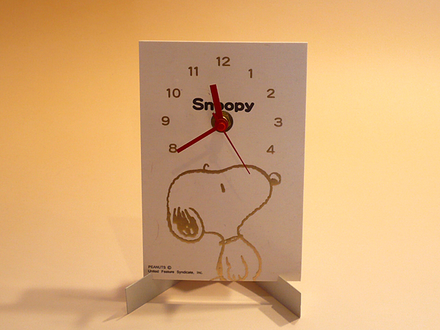 snoopy washi clock