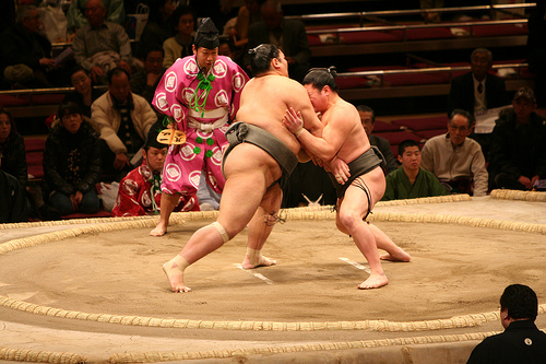 "Sumo Wresting. ""Mori Chan"" some rights reserved. flickr"