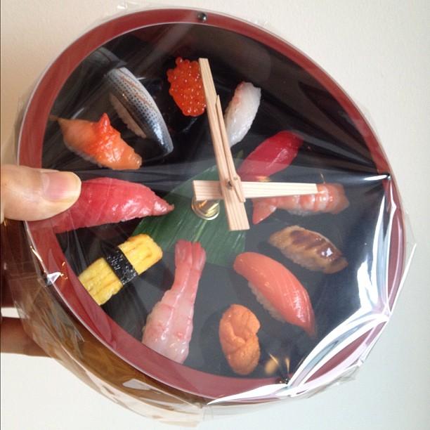 sushi wall clock_fake food