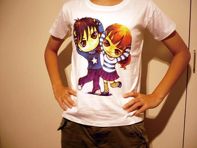 manga t-shirts for kids T5036
