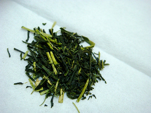 Japanese tea leaf