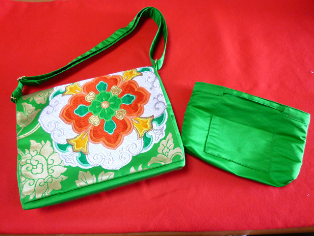 handmade pure silk bag japan