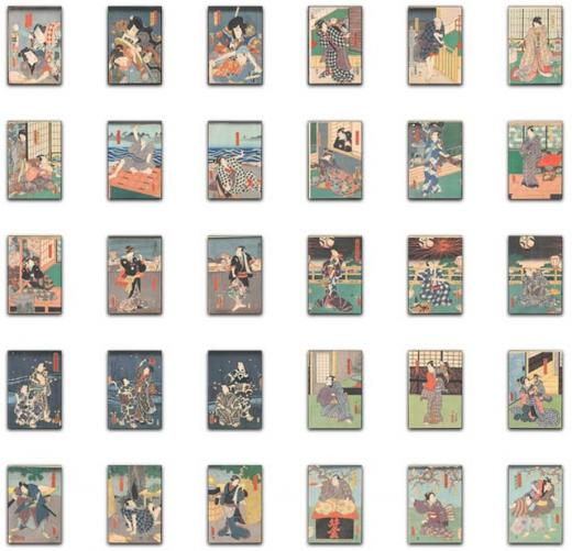 utawaga ukiyoe works prints wall decor