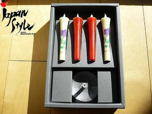 Japanese Traditional Candle Sticks & Holder Set: part 1