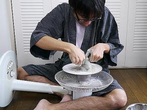 Potter's Wheel Made From an Electric Fan