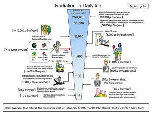Easy Lecture of Radiation Problem in Japan and Radiation Level in Tokyo