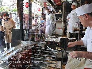 [Photoblog] Craftsman of Ningyo-yaki Pancake