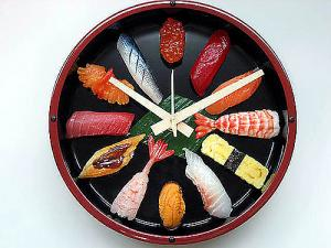Japanese SUSHI Wall Clock,made in JAPAN!